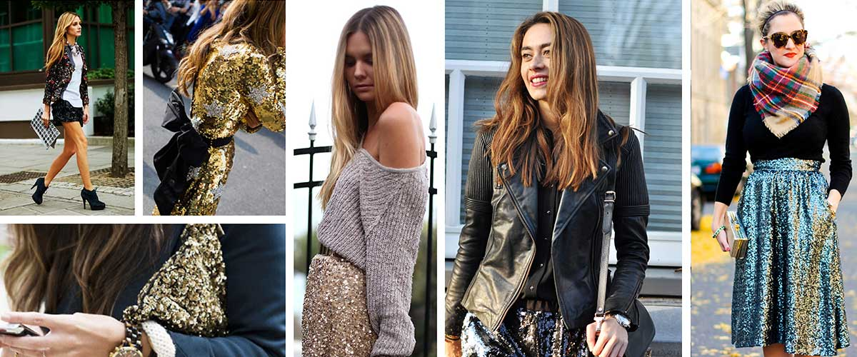 How to Pull Off the Newest Sequined Street Styles